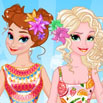 Jugar Anna and Elsa Tropical Vacation Girl Juegos Online