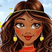 Jugar Moana New in Disney Town Dress Up Girl Juegos Online